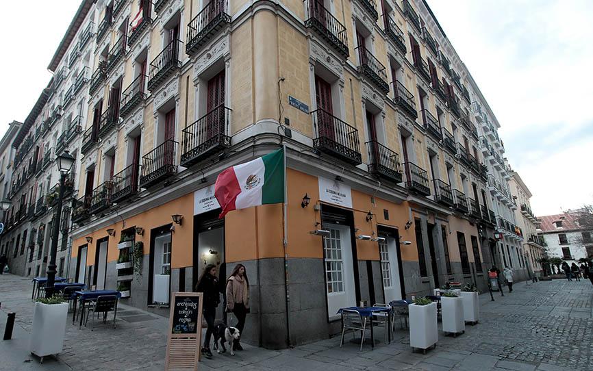 La Esquina Mexicana, restaurante en la calle Príncipe Anglona de Madrid. Foto: Juan Carlos Rojas