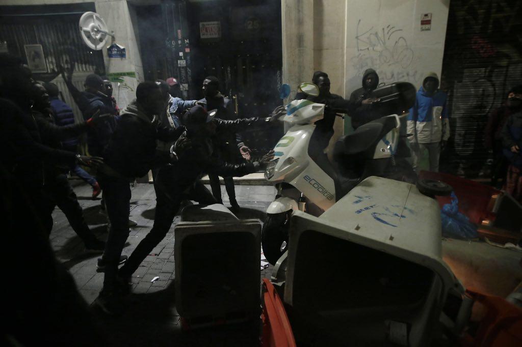 Turbulents in the Lavapies neighborhood between African immigrants
