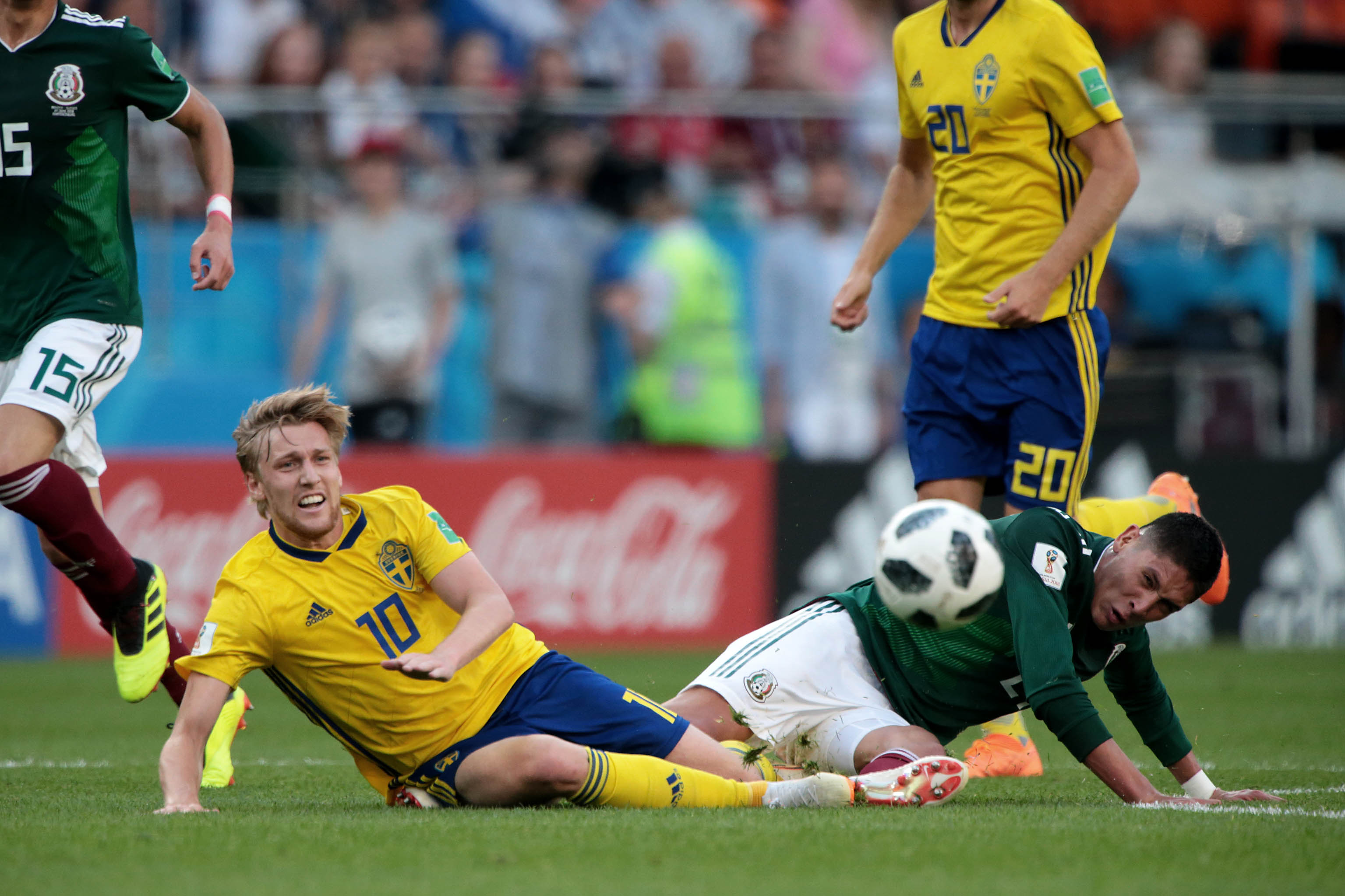 México vs Suecia en partido de la Copa del Mundo realizado en E