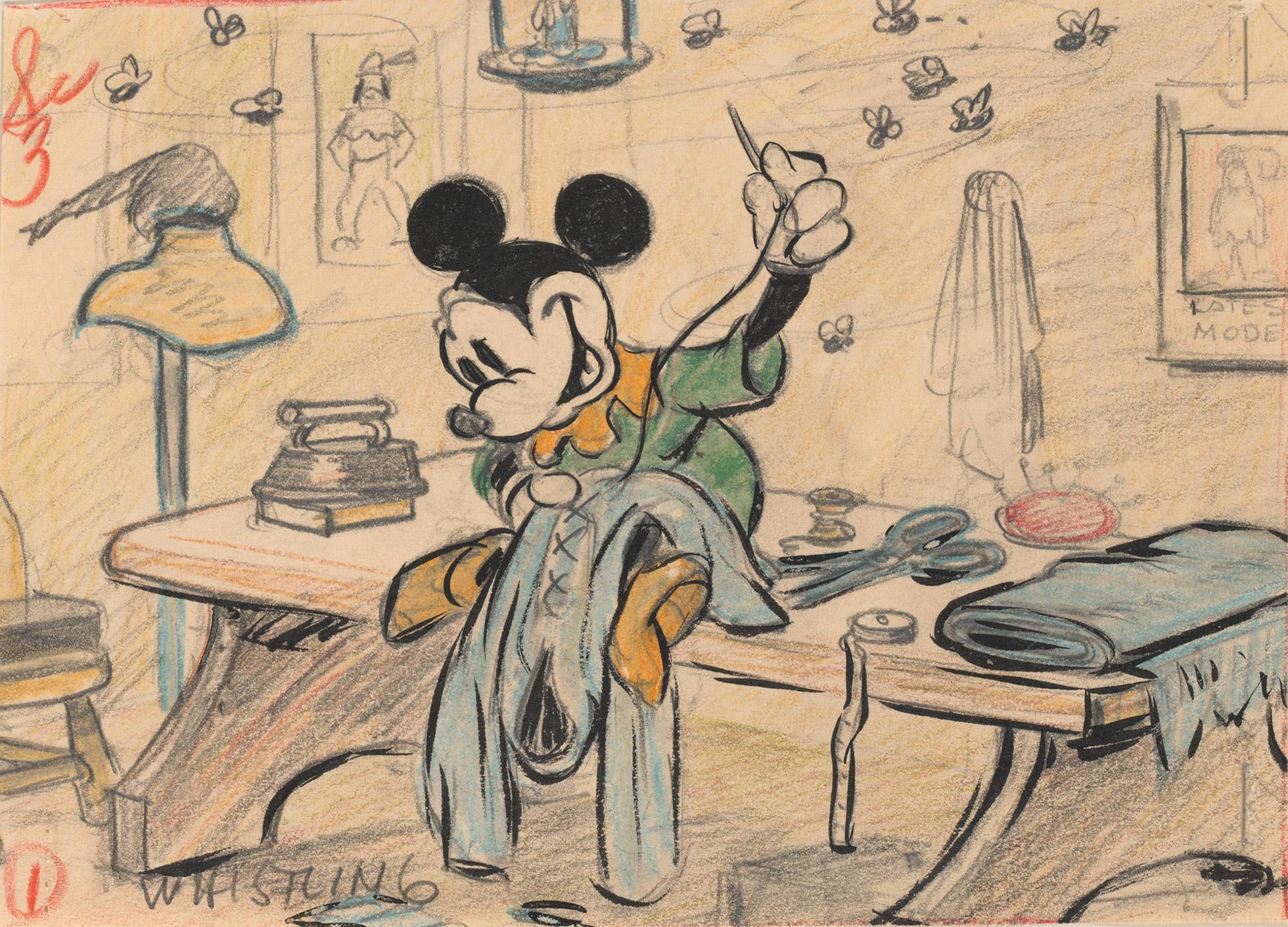 i-el-sastrecillo-valiente-i-1938-artista-del-estudio-disney-esbozo-lapiz-de-color-y-mina-de-grafito-sobre-papel-c-dis