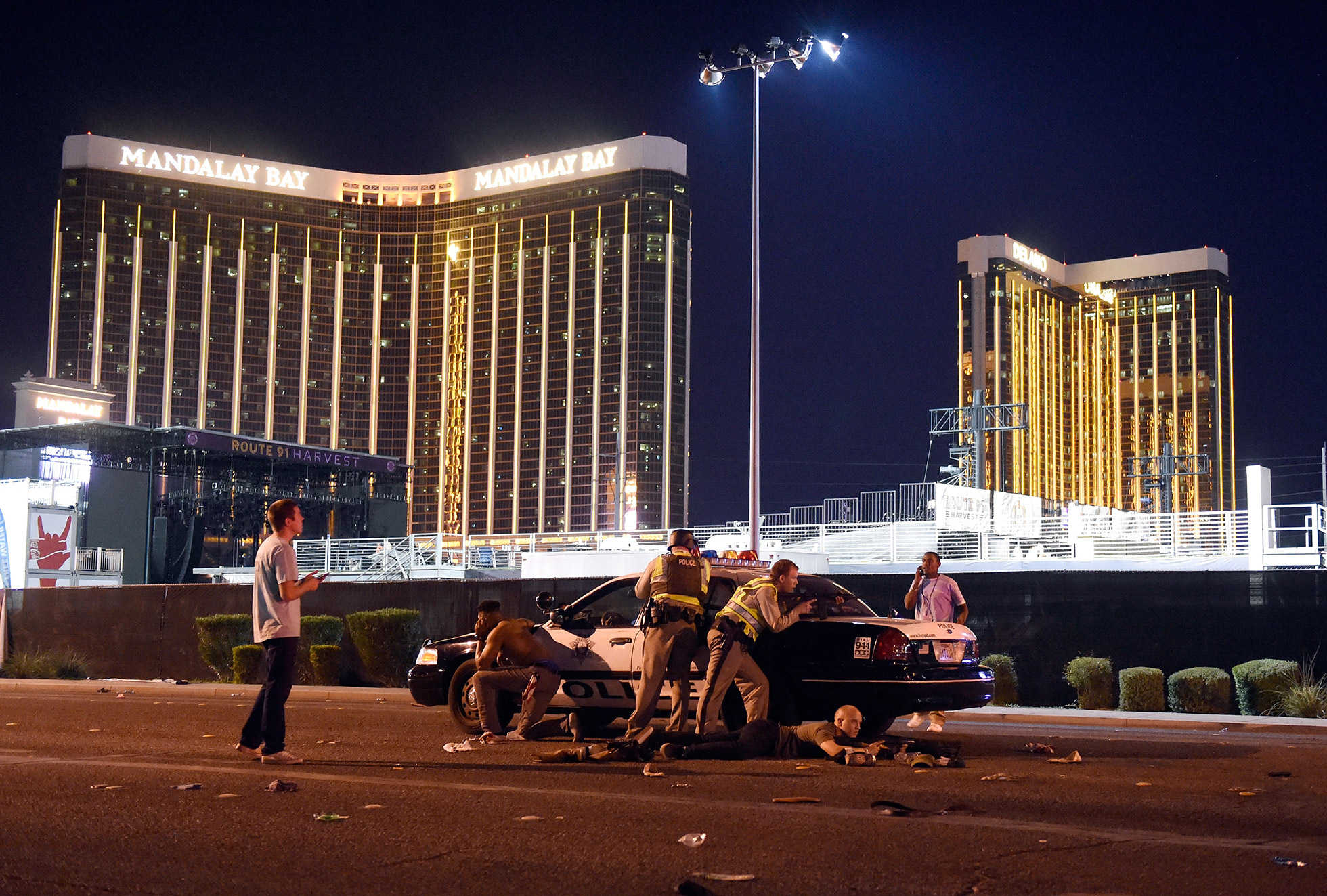 """Primer premio de la categoría Noticias de Actualidad – Historias  """"Masacre en Las Vegas"""" de David Becker, Getty Images"""
