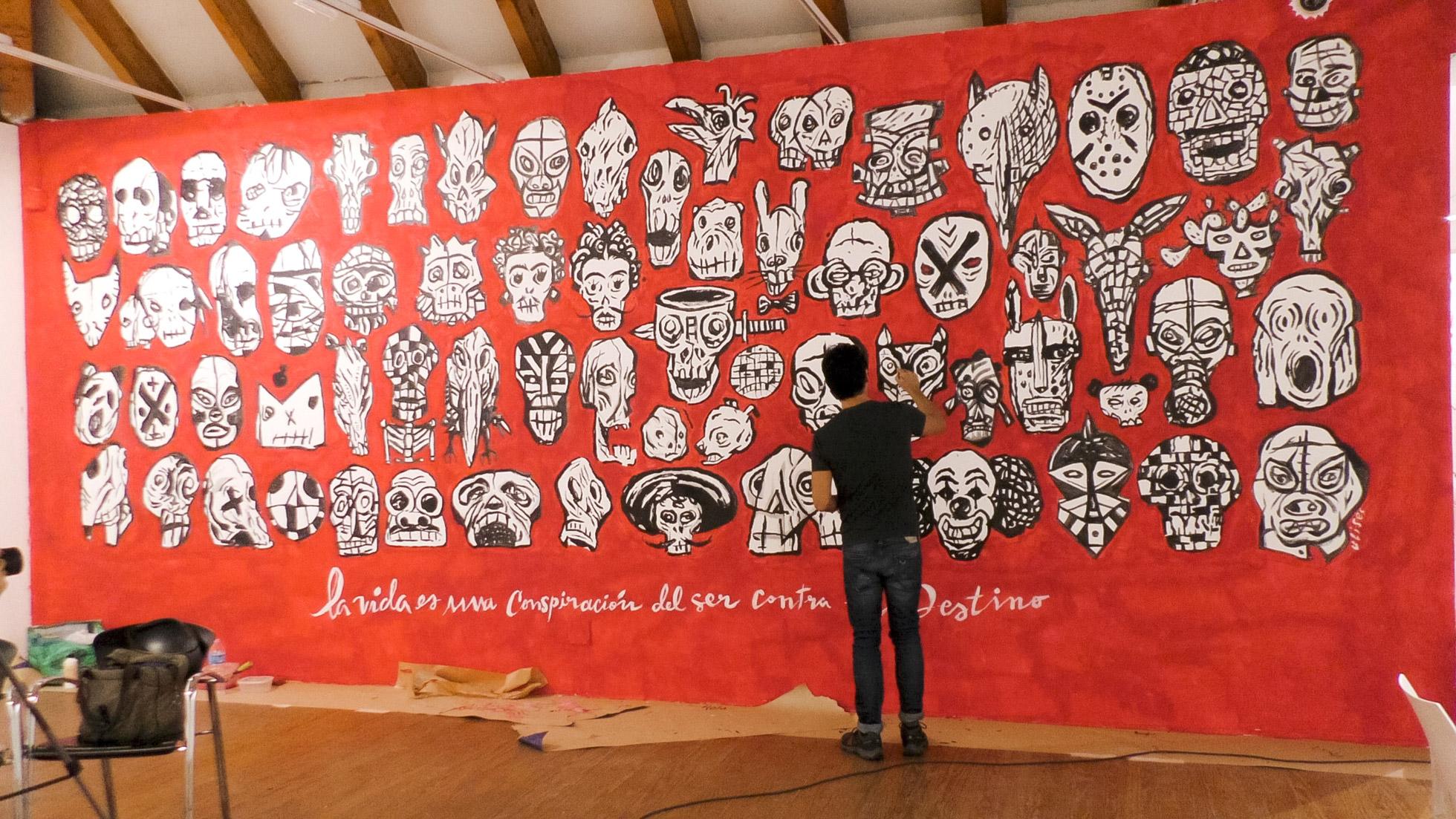 Mural Casa de América 2017, Ulises Culebro 2017. Imagen: Casa de América