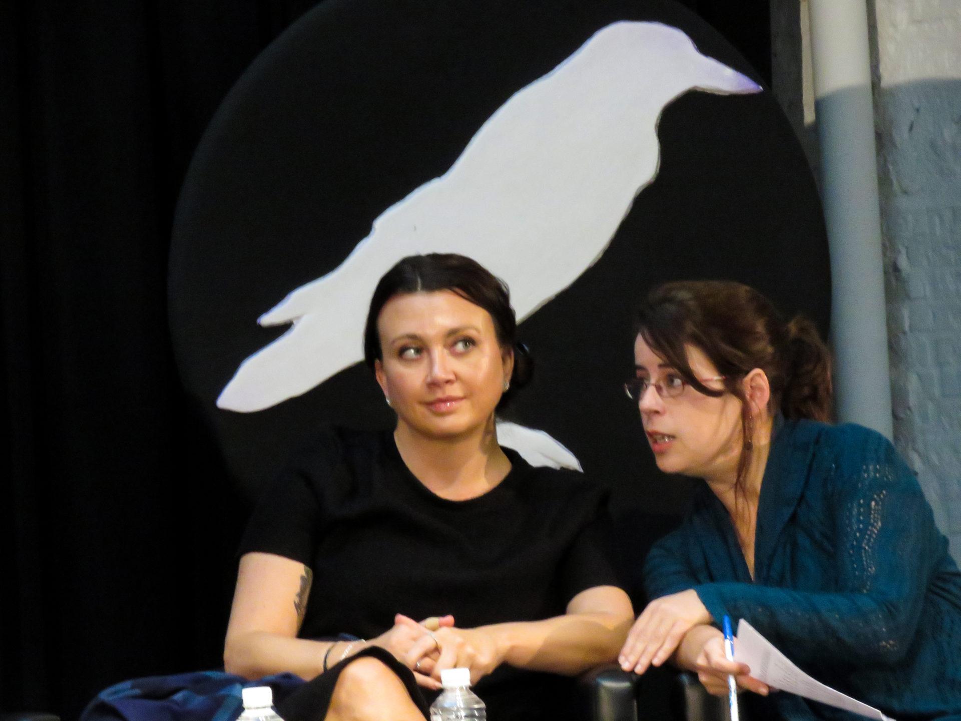 Camila Läckberg en la presentación de la XI edición de Getafe Negro. Imagen: Javier González Sánchez.