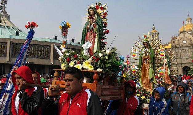 Peregrinación a la basílica de Guadalupe, en la Ciudad de México