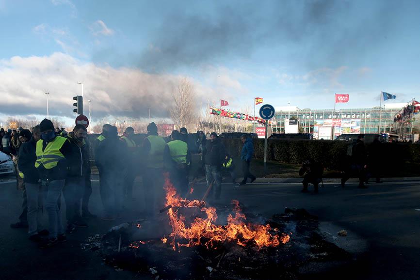 FOTOGALERÍA: Huelga de taxistas en FITUR
