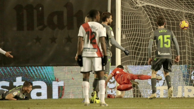 Soccer match 20 between Rayo Vallecano vs Real Sociedad of La Liga