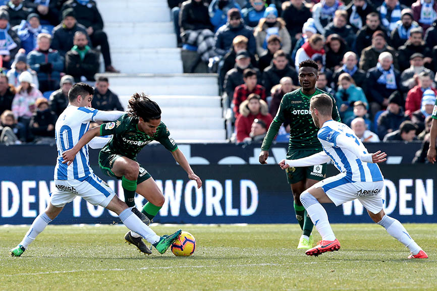 Leganés against Betis Soccer match 23 of La Liga Spain