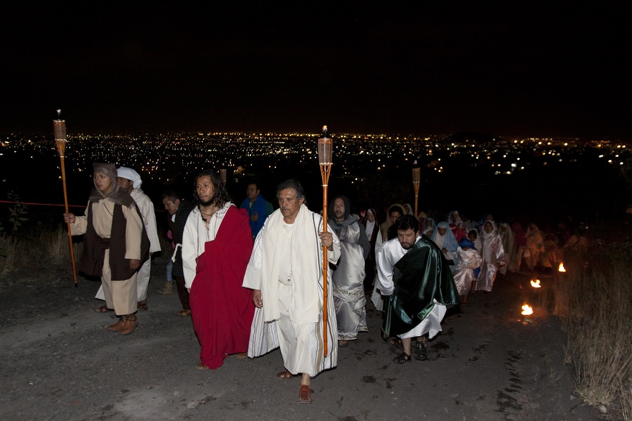 Tenorios, Iztapalapa, represenctación de la Pasión. Imagen: Ricardo Maldonado.