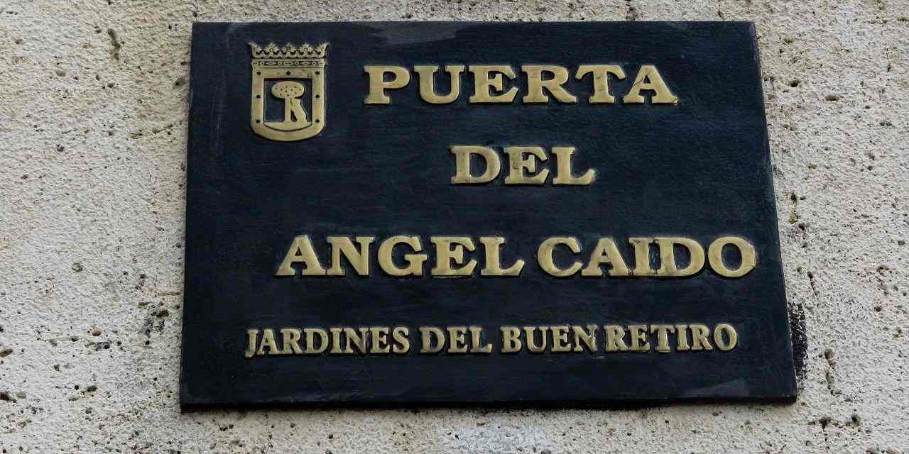 Ángel Caído en Madrid que custodia el descenso a los infiernos