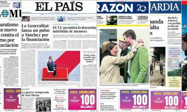 'Estados Unidos permitirá la detención indefinida de menores'. Noticias del día en España