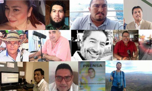 Doce periodistas asesinados en México en lo que va de 2019