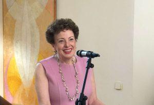 Roberta Lajous Vargas en un acto de despedida.