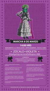 Marcha 8 marzo. México, Zócalo violeta