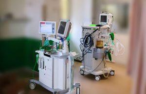 Respiradores en un hospital de referencia en Madrid