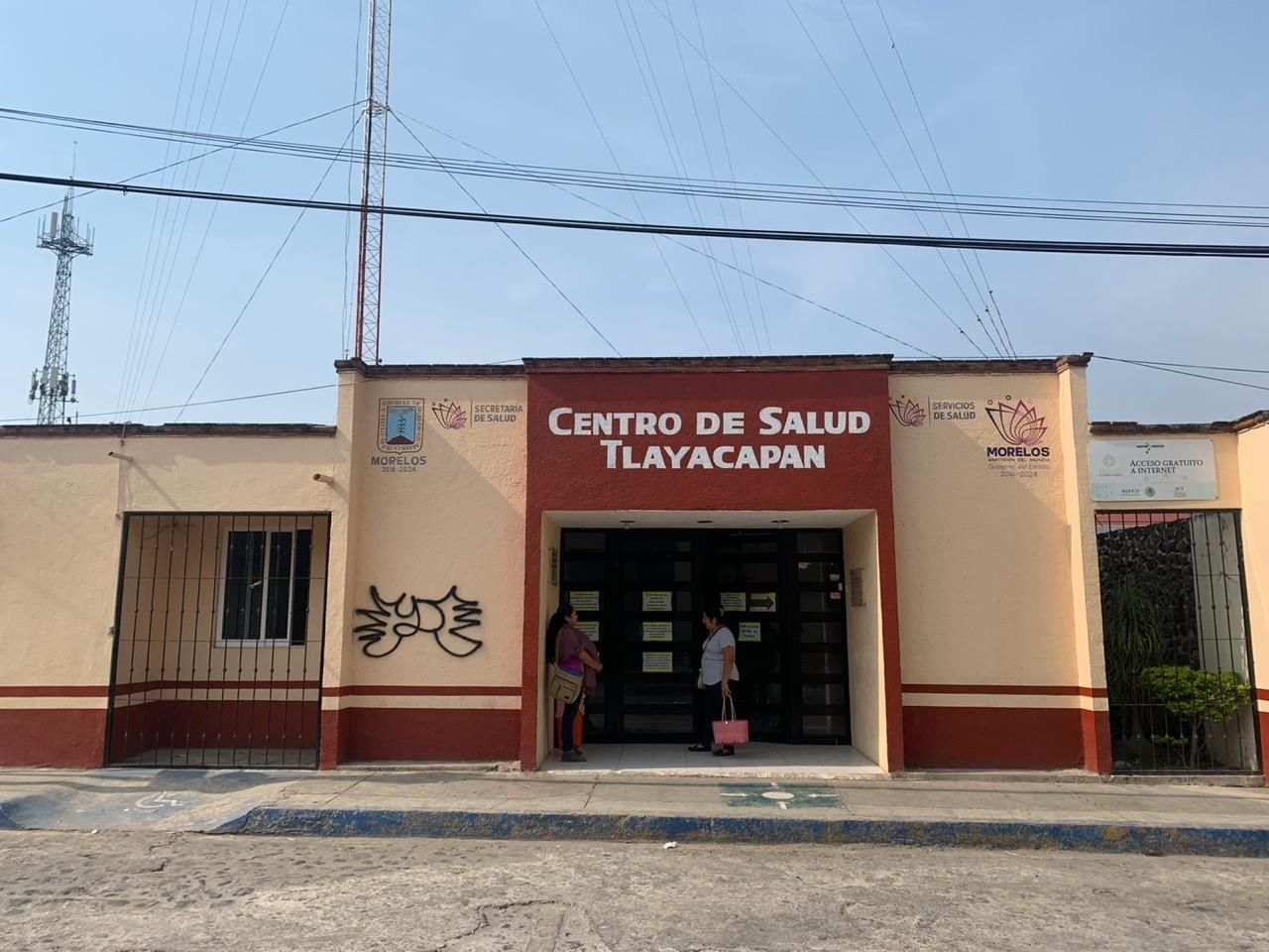 Centro de salud en Tlayacapan
