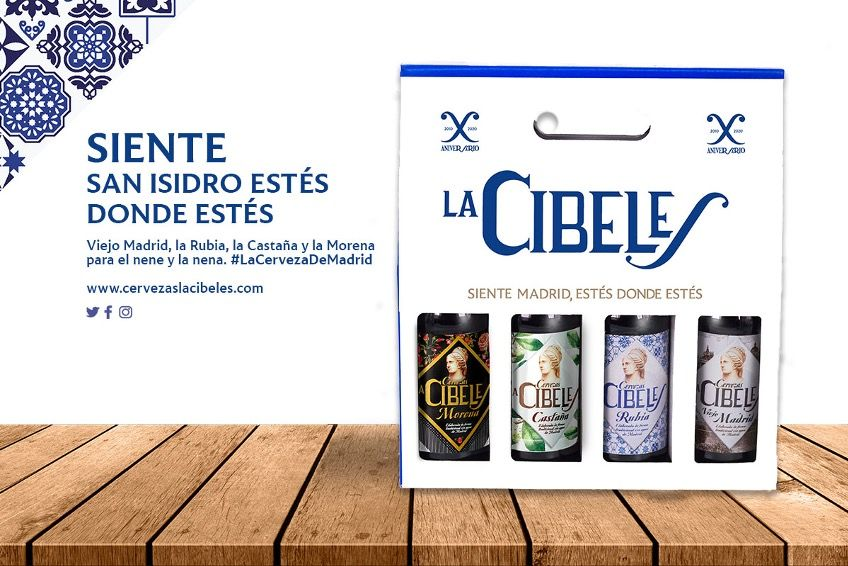 Cuatro variedades de cerveza artesanal 'La Cibeles' para celebrar San Isidro en casa con un 'click'