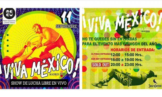 Lucha libre y danza al grito de 'Viva México' en Madrid